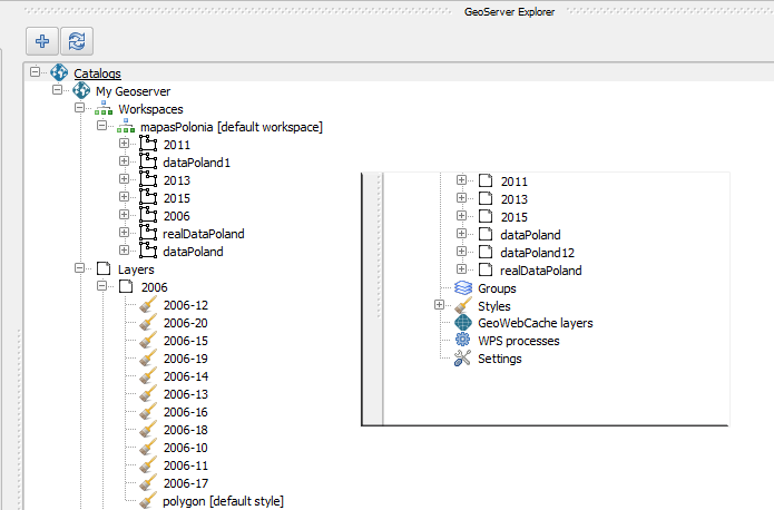 Configuring the publication of geographic information in GeoServer